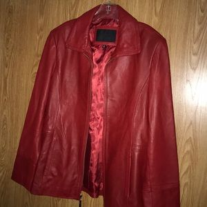 Avanti 100% leather coat